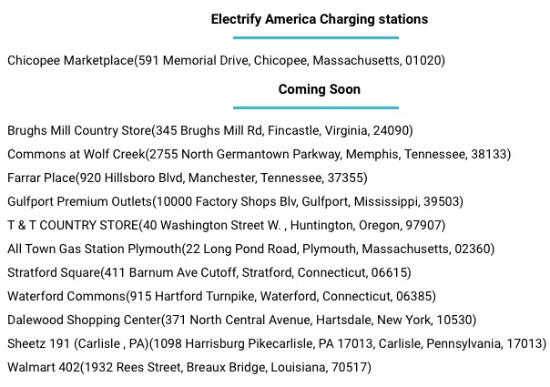 Electrify America Sets Initial Prices Adds Location Map To Website
