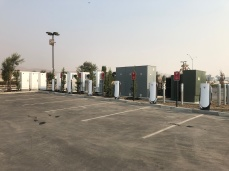 Looking towards the Supercharger hardware cabinets