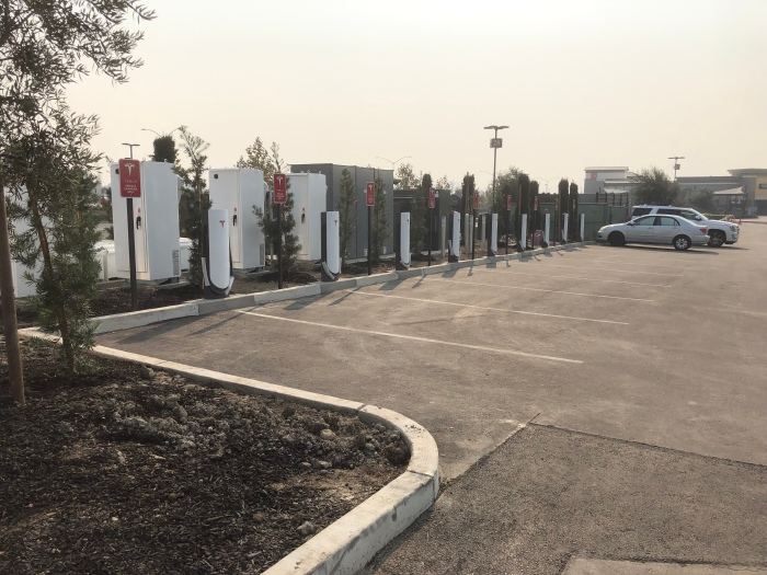 tesla electrify america adjacent dc charging sites near completion in livermore electric revs tesla electrify america adjacent dc